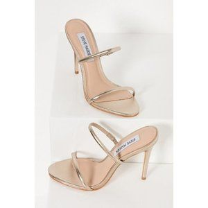 NWT Steve Madden Mina Mule Heels in Light Gold 8.5